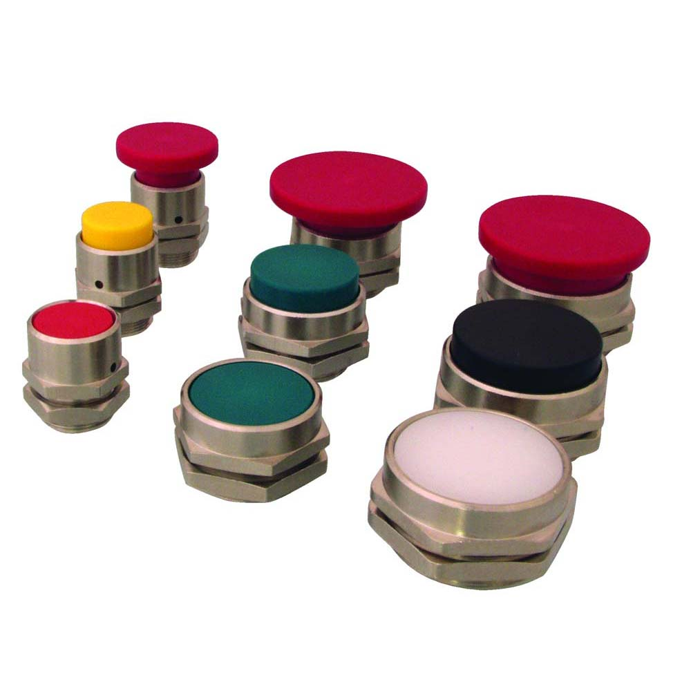 22 mm Red Green Shown Clippard PC-4F-RD Flush Captivated Push Button